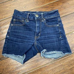 American Eagle Super Stretch Dark Wash Jean Shorts